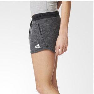 adidas Shorts - ADIDAS melange cotton  fleece shorts